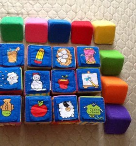Игра развивающая. Кубики.