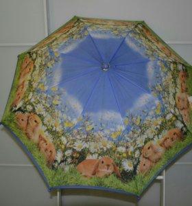 Детский зонтик Зайчики