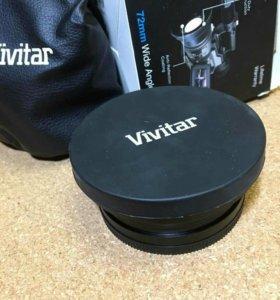 Широкоугольная насадка  Vivitar 72mm 0.43x
