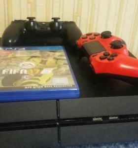 Playstation4 + 2 геймпада + 6 игр