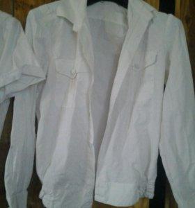Рубашки военные белые