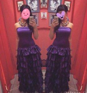Платье в пол 42