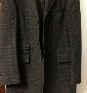 Мужское удлиненное пальто,б/у,шерсть