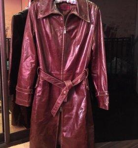 Пальто плащ натуральная кожа 46 размер