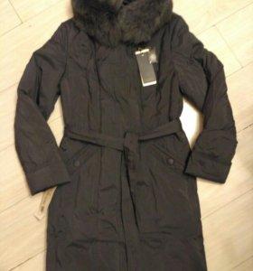 Новое пальто-пуховик р.52
