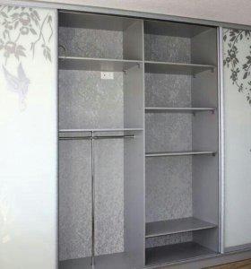 шкаф купе (стекло, зеркало, лдсп)