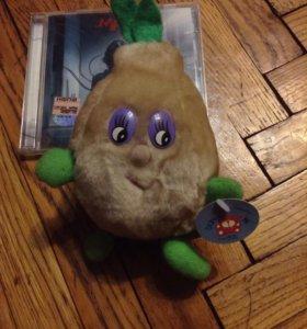 игрушка мягкая с листочками