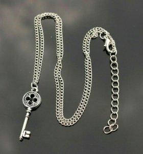 Кулон, цепочка, ожерелье, ключик