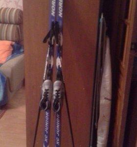 Лыжи (170 см + палки + лыжные ботинки(37)