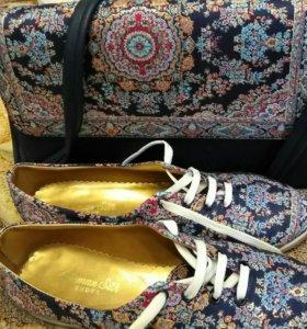 Набор новый сумка кеды, ботинки Турция