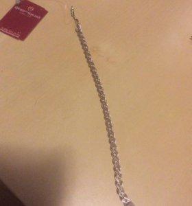 Мужской серебренный браслет