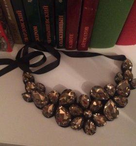 Ожерелье воротник с камнями