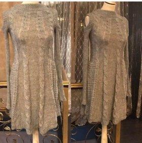 Новое платье вязаный трикотаж.