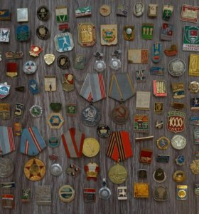 Значки медали фотоаппараты