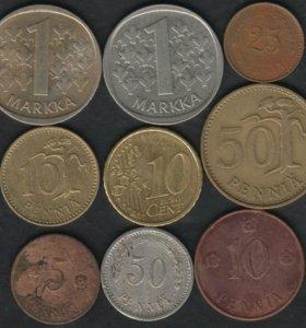 9 монет Финляндии