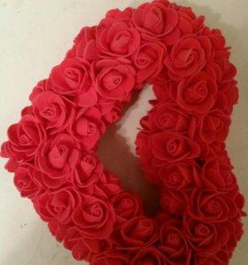 Сердце ручной работы 101 роза