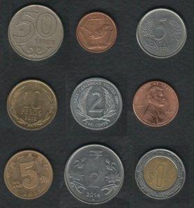 15 монет Мира поштучно
