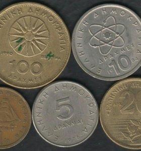 5 монет Греции