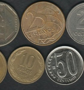 7 монет стран Южной Америки