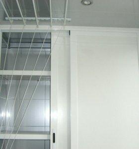 Встроенные шкафы на балкон