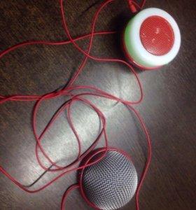 Колонка и микрофон pringles