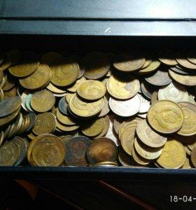 Коллекция монет СССР, России, бумажные деньги