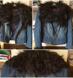 Куртка джинсовая утепленная 40 42 44