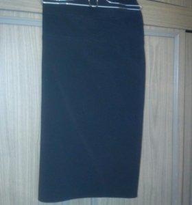 Юбка классическая черная