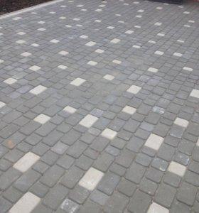 Сухопрессованная плитка - Старый дворик ( 4см )