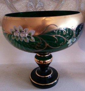 вазы из богемского стекла