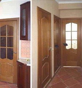 Установка дверей, укладка ламината