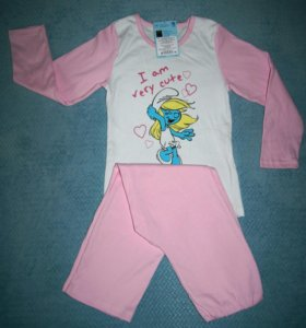 Пижама детская Смурфики.