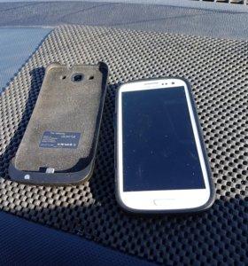 Продам Samsung Galaxy S3.(без задней крышки) чехол