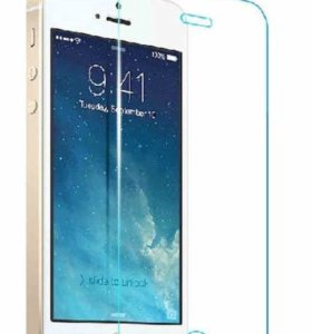 Закалённое защитное стекло на айфон 5
