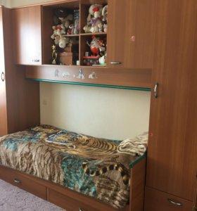 Шкафы и полка в комнату подростка