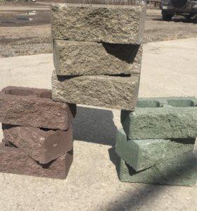Кирпич облицовочный. Рваный камень.