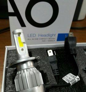 Лампы светодиодные H4 (комплект 2 шт.)