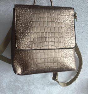 Рюкзак-сумка имитация крокодильей кожи