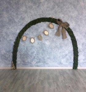 Арка из мха, декоративная