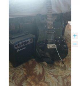 Электронная гитара Ibanez, набор