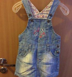 Джинсовая платье для девочек