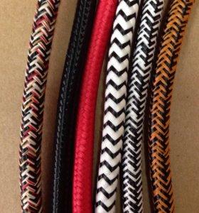 Провода цветные текстильные