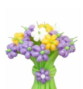 Цветы из шаров 15 шт