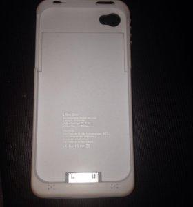Чехол аккумулятор на айфон 4s