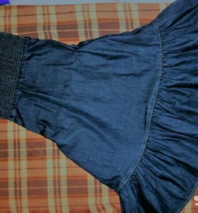 Платье джинсовое ( сарафан)