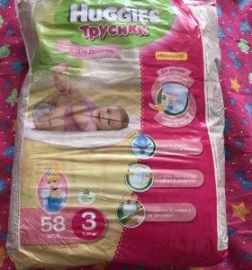 Трусики Huggies для девочек 3 (7-11 кг)