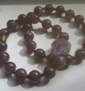 Браслеты из натуральных камней ( аметист )