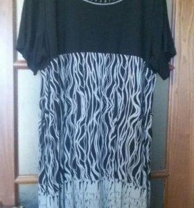 Платье трикотаж размер 58-60