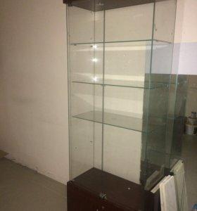 Шкаф витрина стеклянная