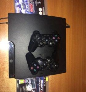 PS 3 Slim 320гб + 33 ТОПОВЫХ игр